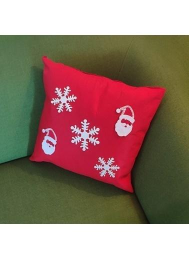 LWP Shop Yeni Yıl Tasarım Yün Keçe Kırlent Kılıfı  Kırmızı